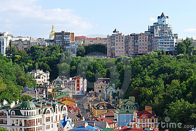 Kind to Kiev from height