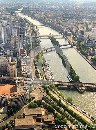 Kind to Paris from Tour d Eiffel