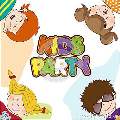 Kinder, die Geburtstagsfeier feiern