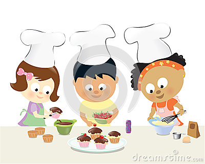 kinder die kleine kuchen backen lizenzfreie stockfotos bild 35940948. Black Bedroom Furniture Sets. Home Design Ideas