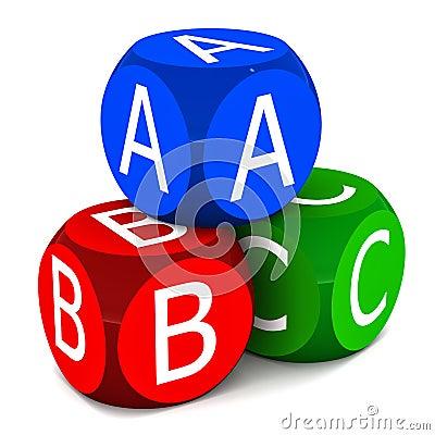 Kinder erlernen ABC
