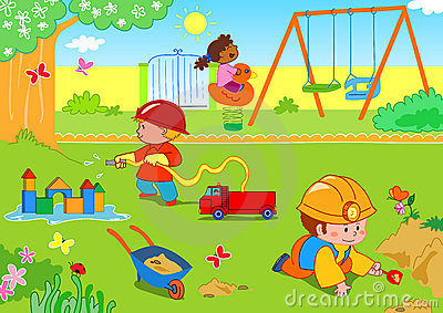 Kinder am Park