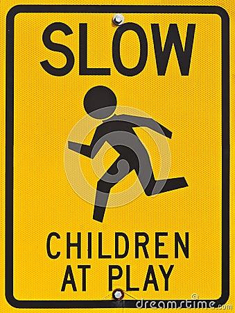 Kinder am Spiel-Zeichen