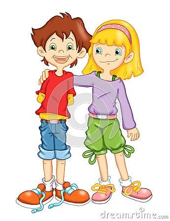 Kinder und Freundschaft