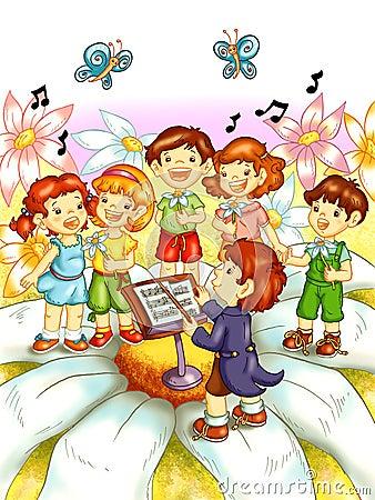 Kinderen die zingen