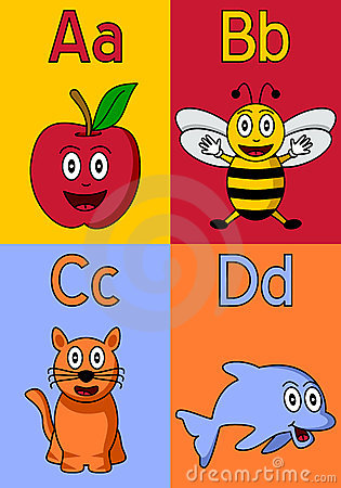Kindergarten Alphabet A-D Royalty Free Stock Photography - Image ...
