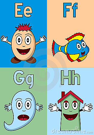 Kindergarten Alphabet E-H
