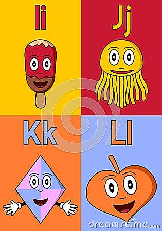 Kindergarten Alphabet I-L