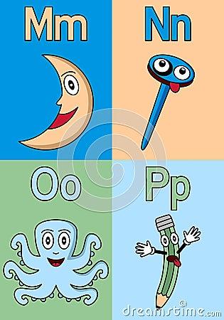 Kindergarten Alphabet M-P