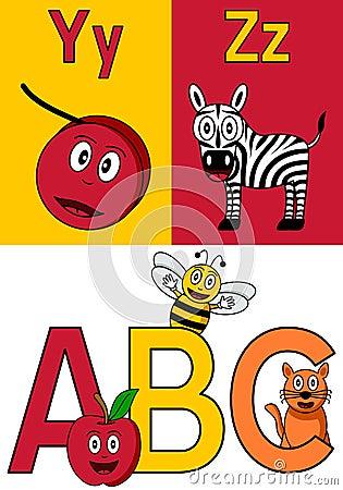 Kindergarten Alphabet Y-Z