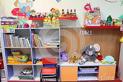 Kindergarten classroom Editorial Photo