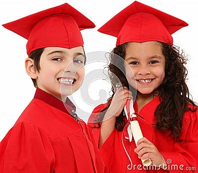 Kindergarten Graduation Boy and Girl Child i