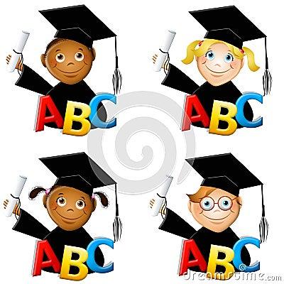 Free Kindergarten Kids Graduates Royalty Free Stock Photos - 5430198