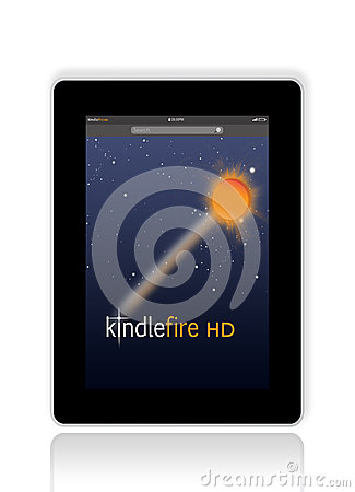 Kindle Fire HD from Amazon Editorial Stock Photo