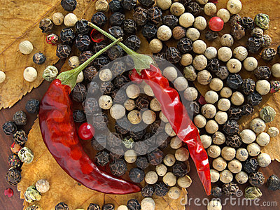 Kinds of dry pepper.