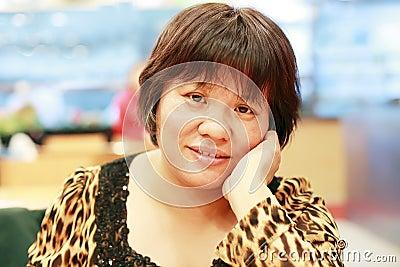 Kinesisk medelålders kvinna