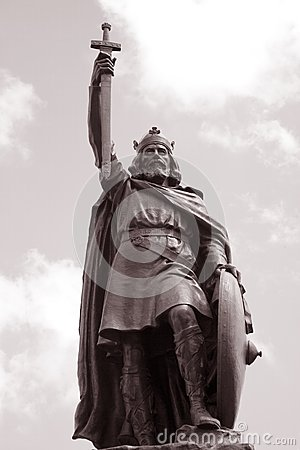 King Alfred Statue, Winchester, England