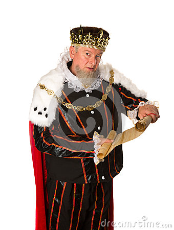Free King Announcement Stock Photography - 47347602