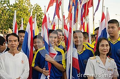 King Birthday Parade, Thailand Editorial Photo