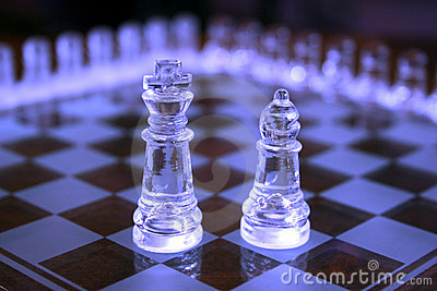 King and Bishop chess pieces