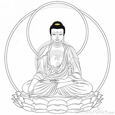 Stock Photography King Buddha Drawing Image9424082 on simple house outline