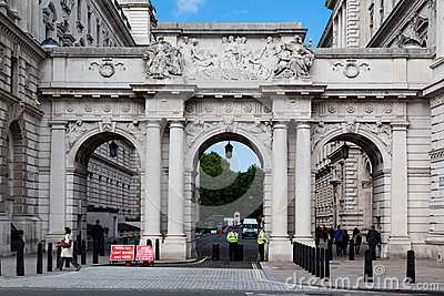 King Charles Street Arches London England Editorial Stock Photo