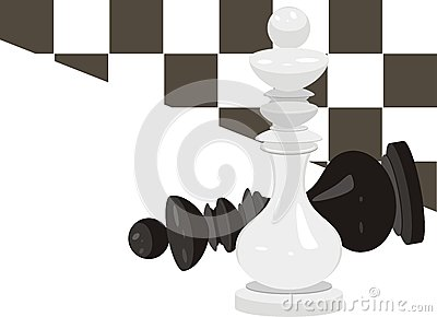 King chess. Abstract background