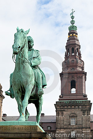 King Christian IX Monument in Copenhagen
