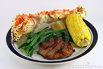 King Crab Leg, Corn, Potato