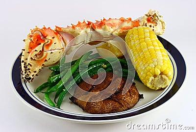 King Crab Leg, Corn, Potato