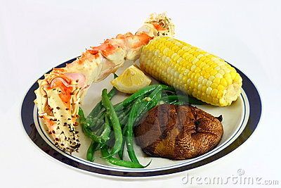 King Crab Leg Dinner with Corn