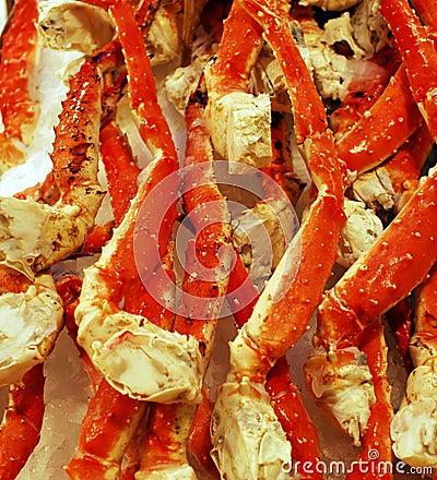 Free King Crab Legs On Ice Stock Photo - 3694420