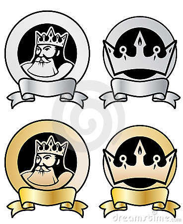 King and crown stamps