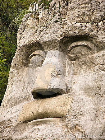 Free King Decebal Face Statue Stock Photo - 4957780