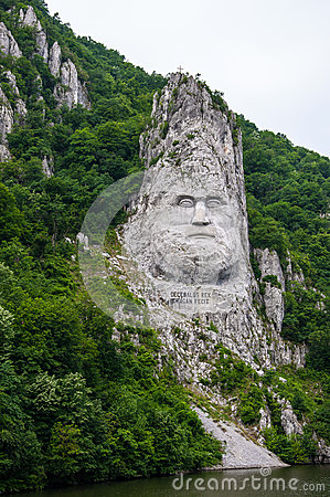 Free King Decebal, Rock Sculpture Royalty Free Stock Images - 61770419