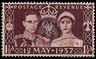 King George VI Coronation Stamp