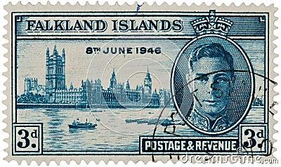 King George VI - Falklands Islands Stamp