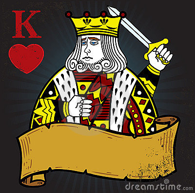 King of Hearts with banner