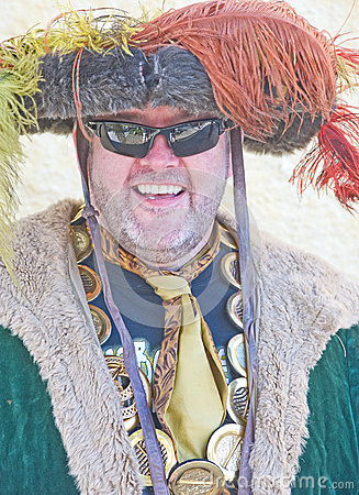 King Henry the eighth at Banff Castle Editorial Photo