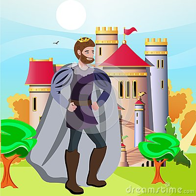 Free King In Front Of His Castle Stock Photography - 106029592