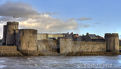 King John castle in Limerick, Ireland.