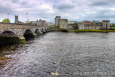 King John castle in Limerick - Ireland.