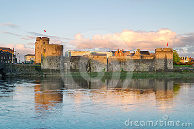 King John Castle at sunset