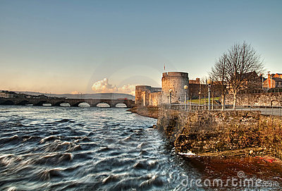 King John's castle and river