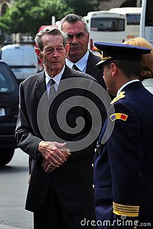 King Mihai I of Romania(11) Editorial Photo