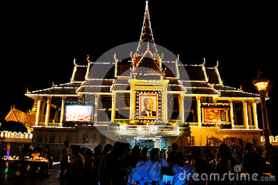 King Norodom Sihanouk memorial portrait Editorial Photo