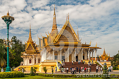 King Palace in Phnom Penh Editorial Stock Photo