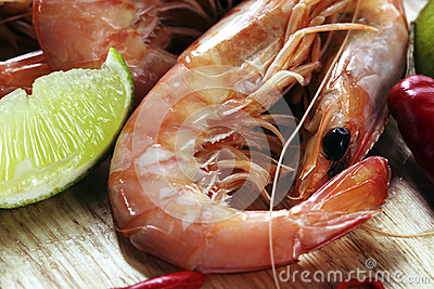 King Prawns with Lime and Chili