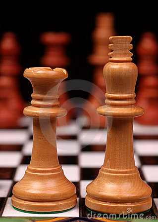 King And Queen On Chess Board Royalty Free Stock Image - Image: 1872696