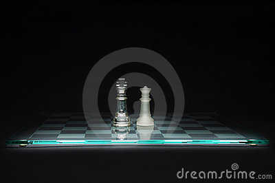 King And Queen On Chessboard